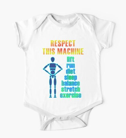 Respect This Machine - Bright One Piece - Short Sleeve