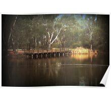 Viewing Bridge, Kennington Resevoir Poster