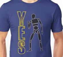 Yes! Fist pump - bright Unisex T-Shirt