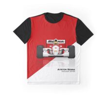 Ayrton Senna - McLaren MP4/8 Red & White Graphic T-Shirt