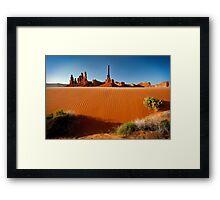 Totem Pole Sands Framed Print