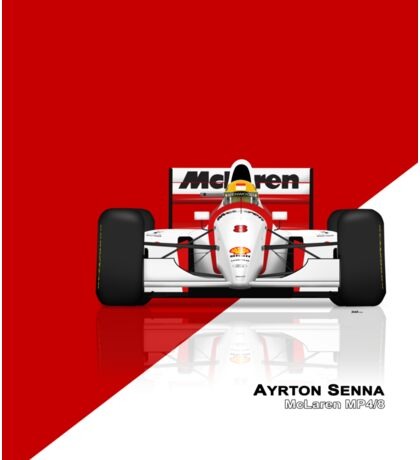 Ayrton Senna - McLaren MP4/8 Red & White Sticker