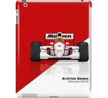 Ayrton Senna - McLaren MP4/8 Red & White iPad Case/Skin