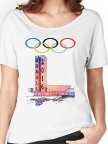 Olympics rio Brazil 2016 sport Women's Relaxed Fit T-Shirt