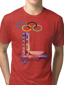 Olympics rio Brazil 2016 sport Tri-blend T-Shirt