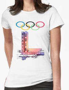 Olympics rio Brazil 2016 sport Womens Fitted T-Shirt