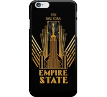 The Empire State Building in art deco style, NY iPhone Case/Skin