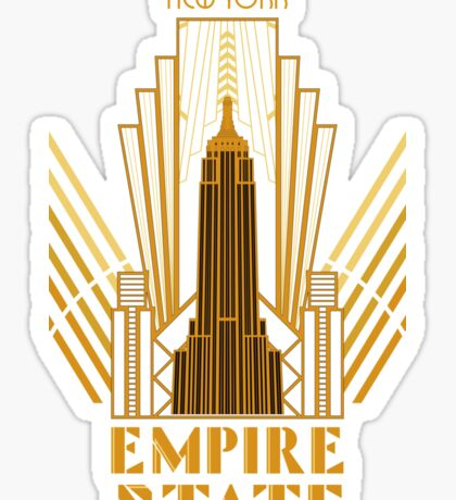 The Empire State Building in art deco style, NY Sticker