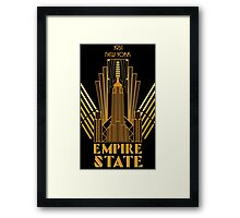 The Empire State Building in art deco style, NY Framed Print