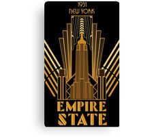The Empire State Building in art deco style, NY Canvas Print
