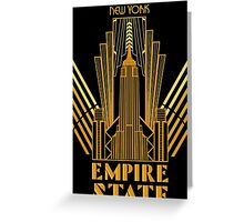 The Empire State Building in art deco style, NY Greeting Card