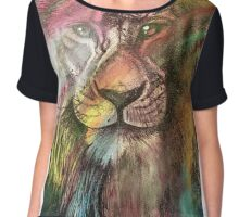 Lion at the discotheque  Chiffon Top