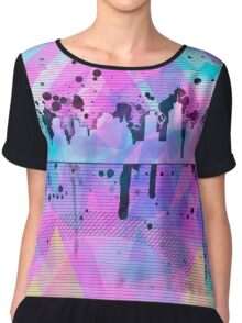 Graphic Style SKYLINE Chiffon Top