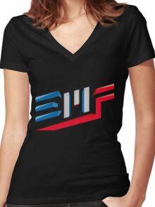 EMF Electro Beach Festival Black Women's Fitted V-Neck T-Shirt