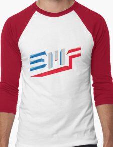EMF Electro Beach Festival Black Men's Baseball ¾ T-Shirt