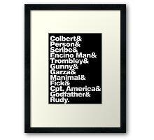 GENERATION KILL Framed Print