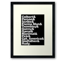 GENERATION KILL Framed Print