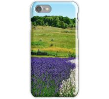 Hilly Lavender Countryside iPhone Case/Skin