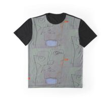 squigglehead with blue scalf and red ear - painting Graphic T-Shirt