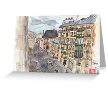 Parisian View from the 5th Arrondissement  Greeting Card