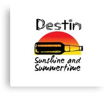 Sunshine and Summertime Destin Florida. Canvas Print