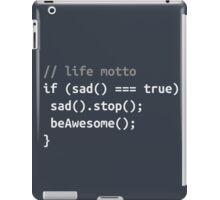 Code motto iPad Case/Skin