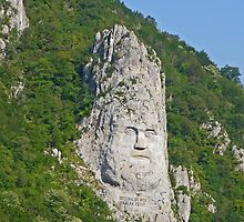 Decebalus monument, Romania by Margaret  Hyde