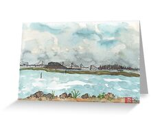 A view of San Francisco from the Richmond Shoreline Greeting Card