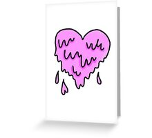 Dripping Heart Greeting Card