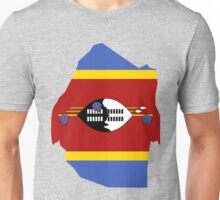 Swaziland Flag Map Unisex T-Shirt