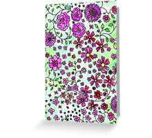 Pink Small Flowers Greeting Card
