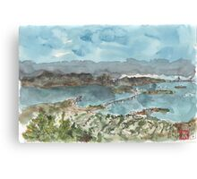 A sketch of San Francisco Bay from Grizzly Peak Canvas Print