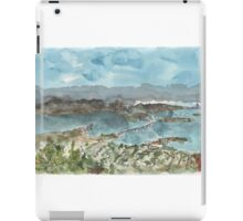 A sketch of San Francisco Bay from Grizzly Peak iPad Case/Skin