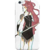swordswoman iPhone Case/Skin