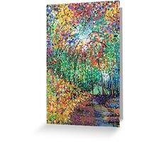 Firework forest Greeting Card