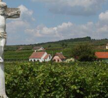 Wayside Cross At Feuersbrunn, Lower Austria Sticker