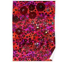 Red Small Flowers Poster