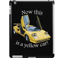 Now this is a yellow car! iPad Case/Skin