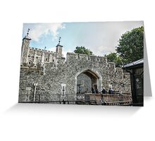 Entering the Fortress Greeting Card