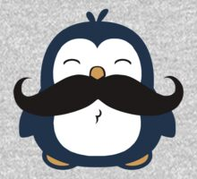 Mustache Penguin One Piece - Long Sleeve