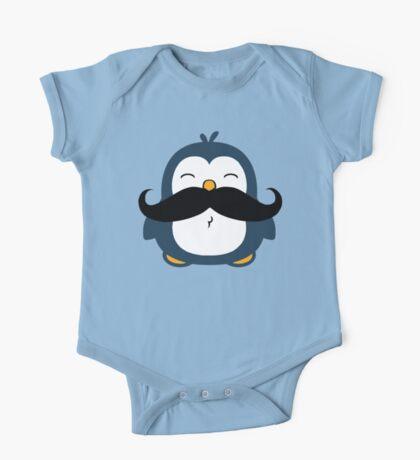 Mustache Penguin One Piece - Short Sleeve