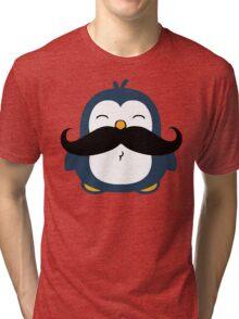 Mustache Penguin Tri-blend T-Shirt