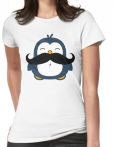 Mustache Penguin Womens Fitted T-Shirt