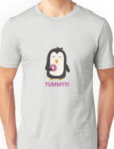 Penguin with a Doughnut   Unisex T-Shirt