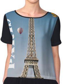 Paris France Eiffel Tower New Chiffon Top