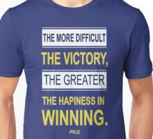 Victory Inspiring Motivational Pele Footballer Quotes Unisex T-Shirt