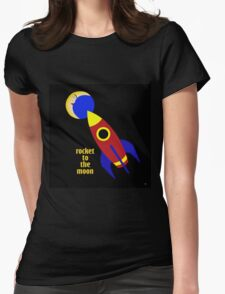 ROCKET TO THE MOON Womens Fitted T-Shirt