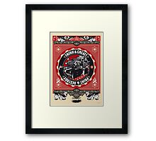 think and create print and destroy Framed Print