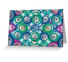 Multicolored Shapes Pattern Greeting Card