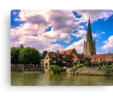 Along the Thames. Canvas Print